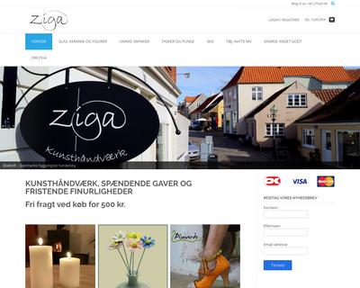ziga.dk website