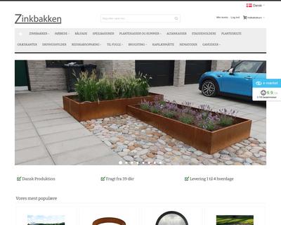 zinkbakken.dk website