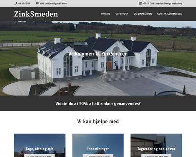 zinksmeden.dk website