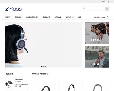 zinuss.dk website
