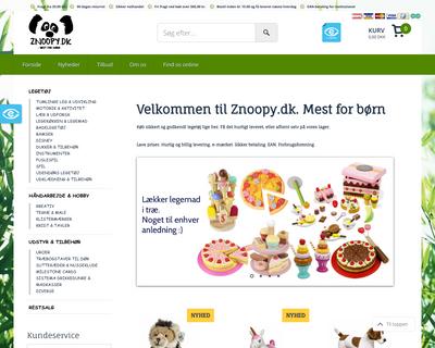 znoopy.dk website